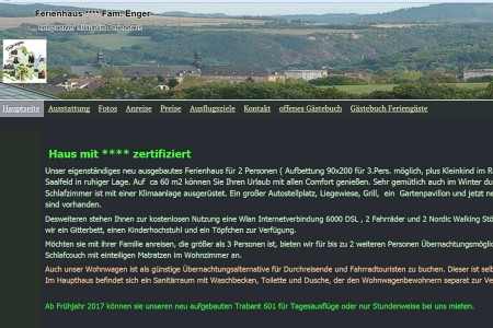 Screen-Shot der Website www.ferienwohnung-enger.de